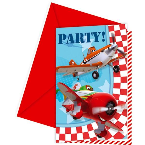 6 Einladungs-Sets Planes