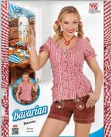 Rot-weiss karrierte Bayern-Bluse XL