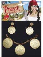 Piratenschmuckset mit Halskette und Ohrringen