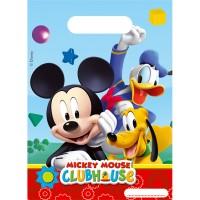 6 Partybeutel M. Mouse 16x23cm