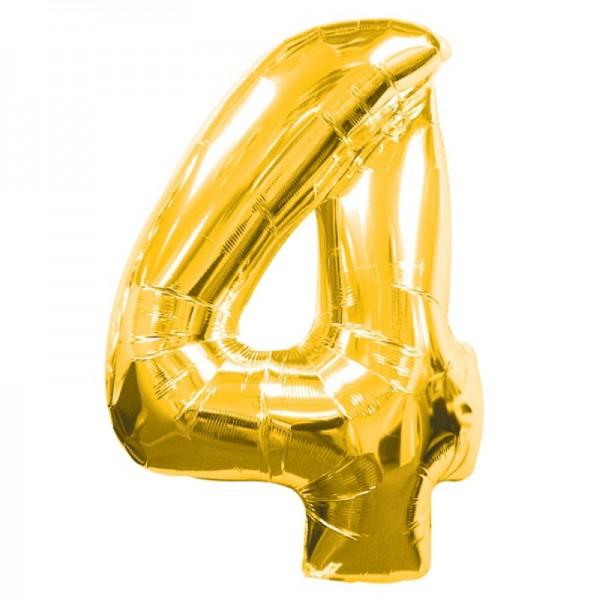Silberfolienballon 4 gold