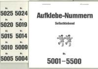 Aufklebenummern für Gabentisch 5001-5500