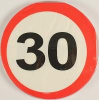 Servietten Verkehrsschild 30 Jahre