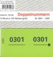 Doppelnummer grün 120x60mm 1-1000