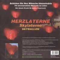 Herzlaterne Skyballon XXL