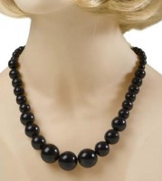 Halskette 70er schwarz