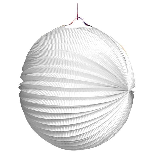 Lampion weiss, rund ø 25 cm