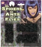 Insektenset Ameisen, Fliegen und Spinnen