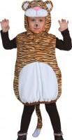 Kostüm Tiger Grösse 104 ärmelloses Oberteil mit Kapuze