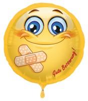 Silberfolienballon Emoticon Gute Besserung