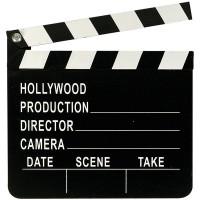 Filmklappe Hollywood 17.8x25.3cm