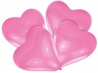 Pinke Herzballone