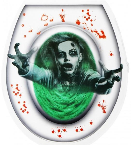 Toilettendeckel Aufkleber blutiger Zombie Halloween