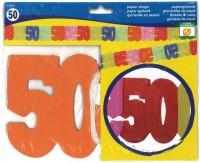 Papiergirlande 50 Jahre
