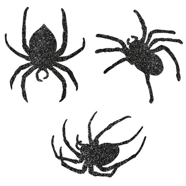 Glitzer Spinnen Ausschnitte