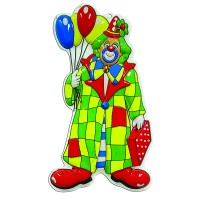 Fasnacht Wanddeko Clown