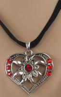 Herz-Edelweiss - Halskette