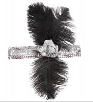 Silbernes 20er Stirnband mit Feder