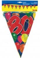 Wimpelkette Birthday Ballone 80 Jahre