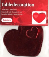 Tischdekoration rote Herzen