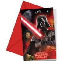 Star Wars 6 Einladungs-Set Star Wars & Heroes