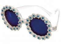 Blaue Margeriten Hippiebrille