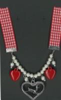 Halskette Bayern mit Herzen