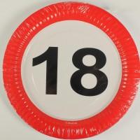 Partyteller Verkehrsschild 18 Jahre