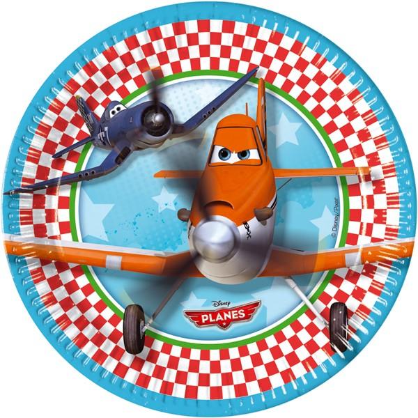 8 Teller 23cm Planes