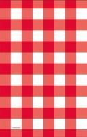 Rot-weiss karierte Tischdecke