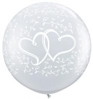 XL Ballon mit Herzen