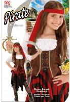 Kinderkostüm Piratin 140cm