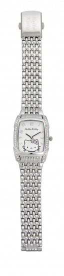 Hello Kitty Uhr Steps out Metallarmband