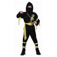 Fasnacht Ninja schwarz L (130-140)