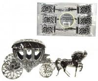 Silberne Hochzeitskutsche