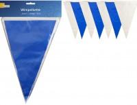 Wimpelkette blau/weiss