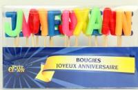 Geburtstagskerzen Joyeux anniversaire