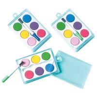 12 Mini-Wasserfarben Partypack