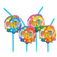 10 Trinkhalme Party Ballon