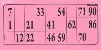 Lottokarten rosa