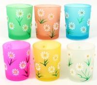 Gläser für Teelichter 6 Farben Serie Margerita