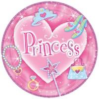 8 Kartonteller 23cm Prinzessin