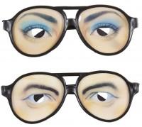 Lustige Brille mit Augen