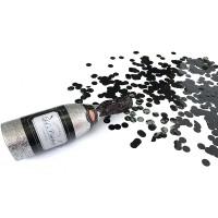 Konfetti Flasche Silber / Glitzer
