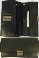 Kellnerbörse Leder 17x10cm schwarz mit Kette robust, kompakt