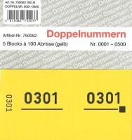 Doppelnummer gelb 120x60mm 1-500