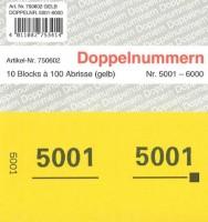 Doppelnummer gelb 120x60mm 5001-6000