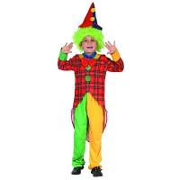 Fasnacht Clown Kostüm bunt Gr. L