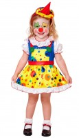 Kinderkostüm Clown-Mädchen 116cm