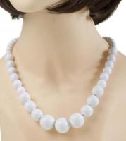 Halskette 70er weiss